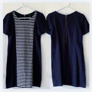 J. Crew navy striped dress size 4